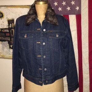 Ralph Lauren Faux Fur Jean jacket